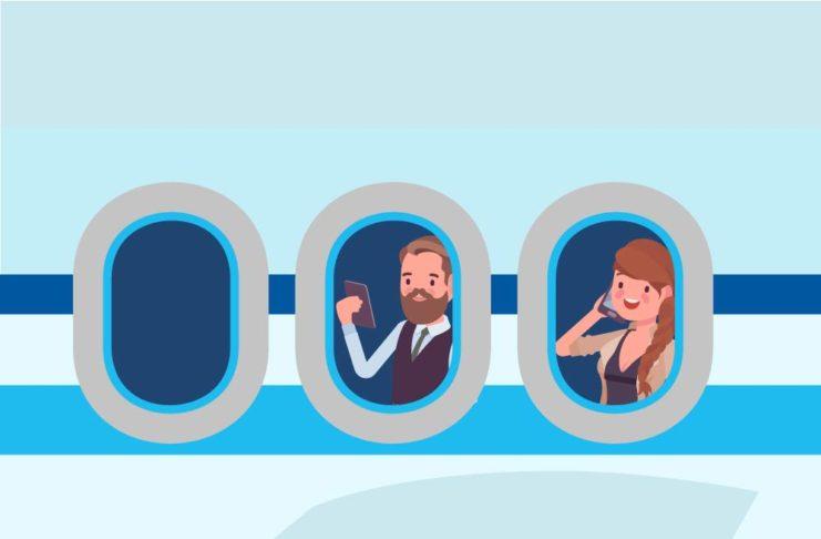 in-flight phone service